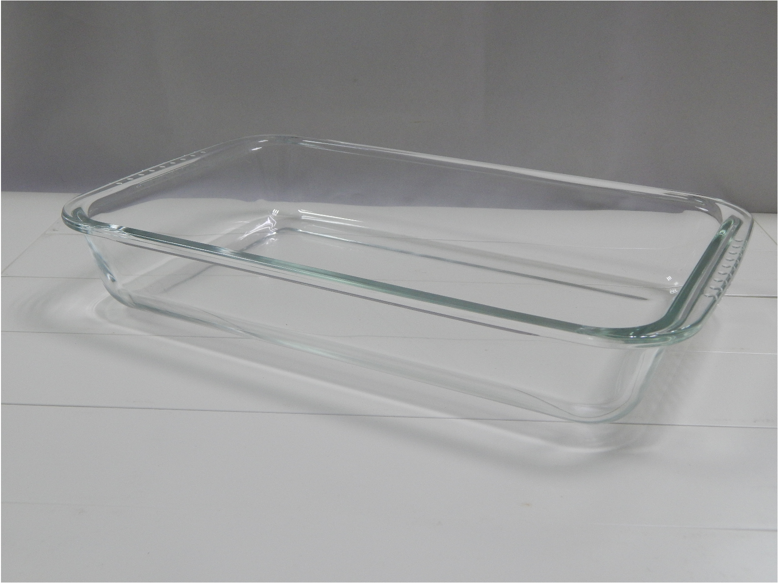 Easylock Oven Safe Glass Bakeware with Blue Plastic Lid